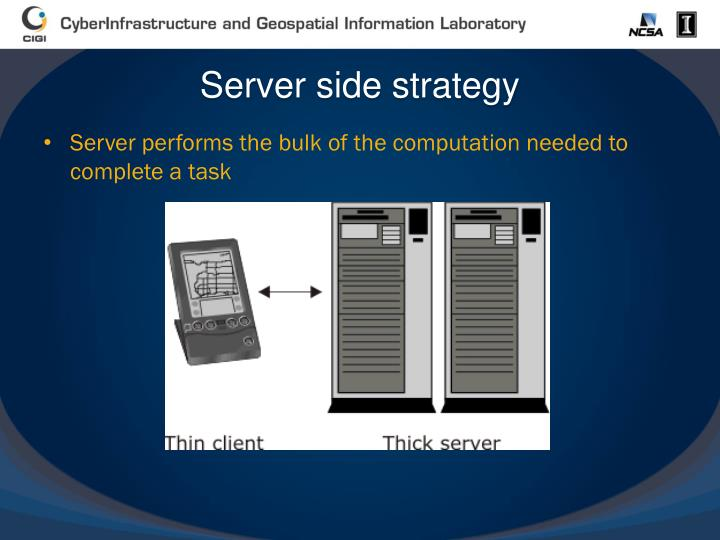 Server side strategy