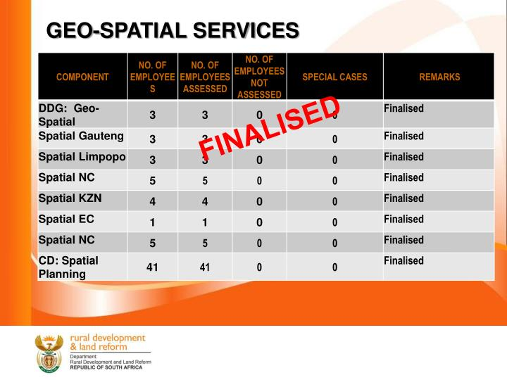 GEO-SPATIAL SERVICES