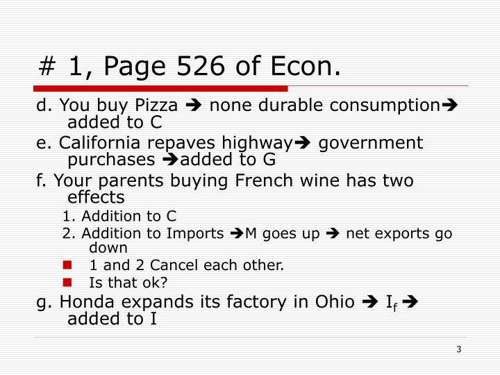 # 1, Page 526 of Econ.