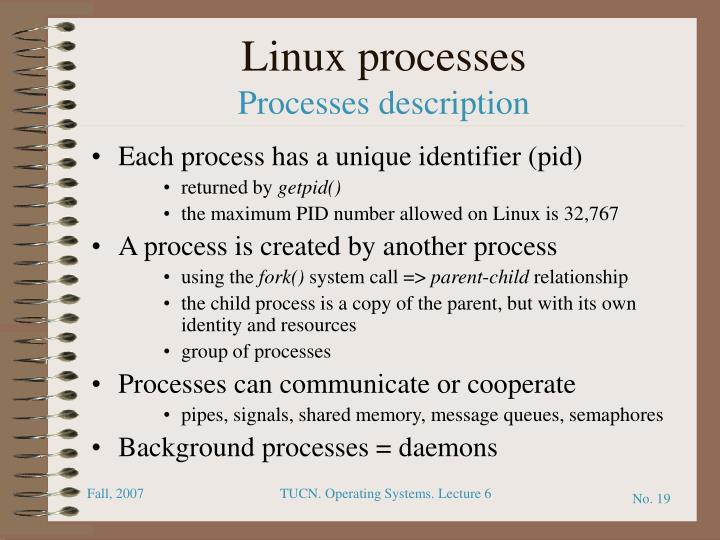daemon in linux has no parent process