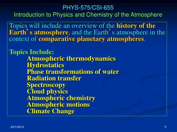 PHYS-575/CSI-655