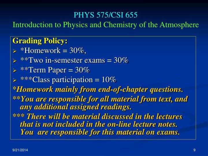PHYS 575/CSI 655