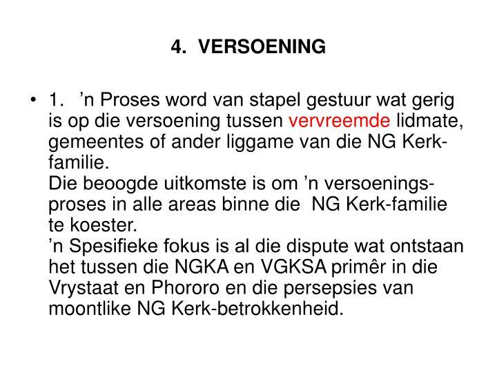 4.VERSOENING