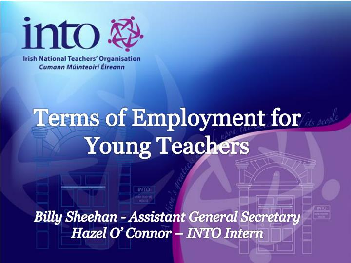 Terms of Employment for Young Teachers
