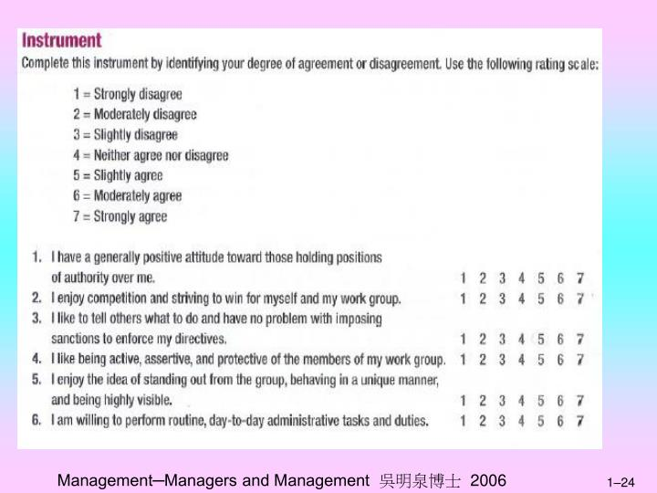 Management─Managers and Management