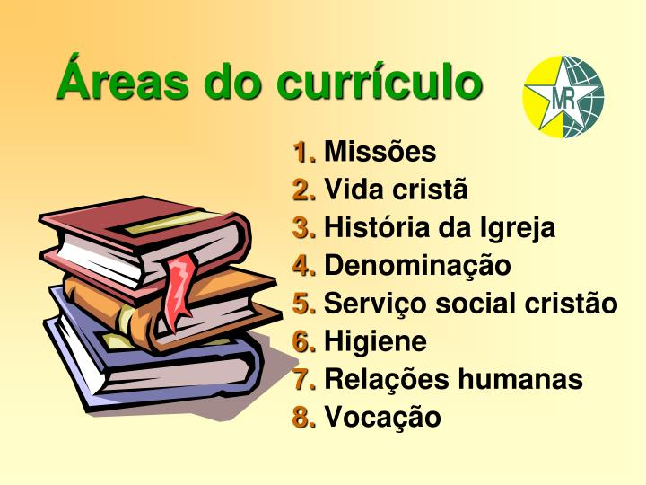 Áreas do currículo