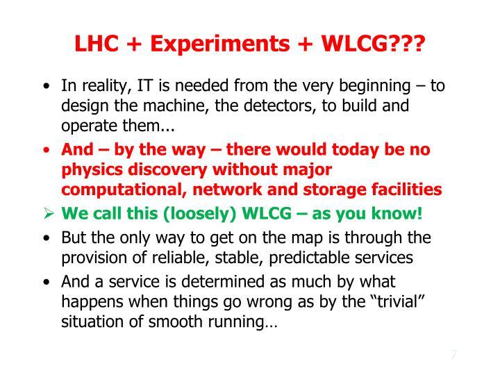 LHC + Experiments + WLCG???