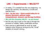 lhc experiments wlcg