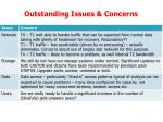 outstanding issues concerns