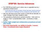 step 09 service advances