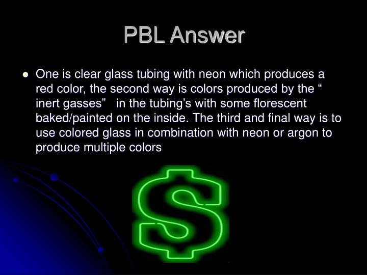 PBL Answer
