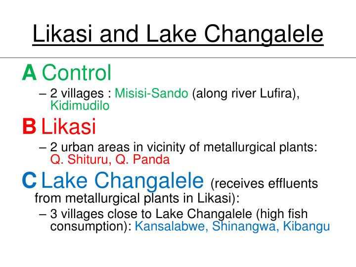 Likasi and Lake Changalele