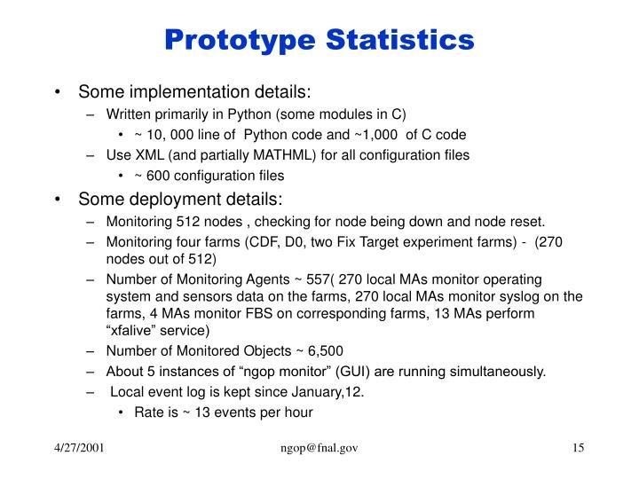 Prototype Statistics
