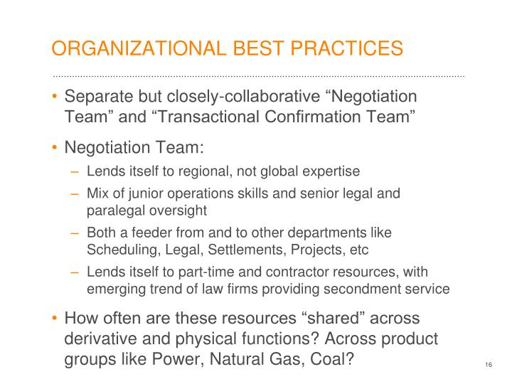 ORGANIZATIONAL BEST PRACTICES