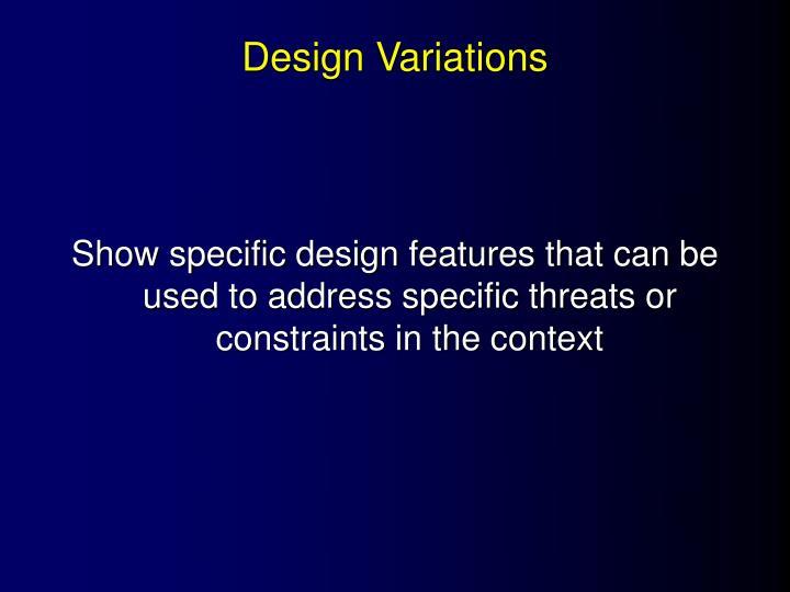 Design Variations