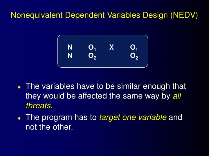 Nonequivalent Dependent Variables Design (NEDV)