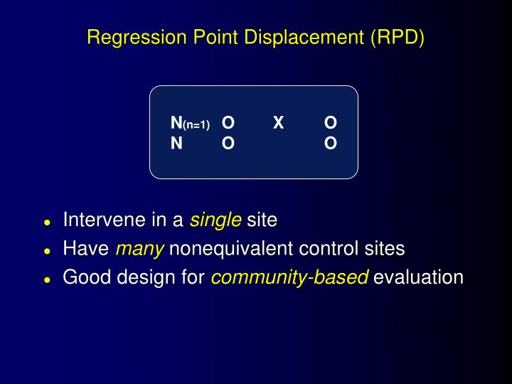 Regression Point Displacement (RPD)