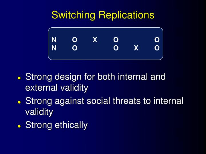 Switching Replications