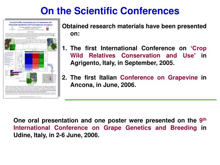 On the Scientific Conferences