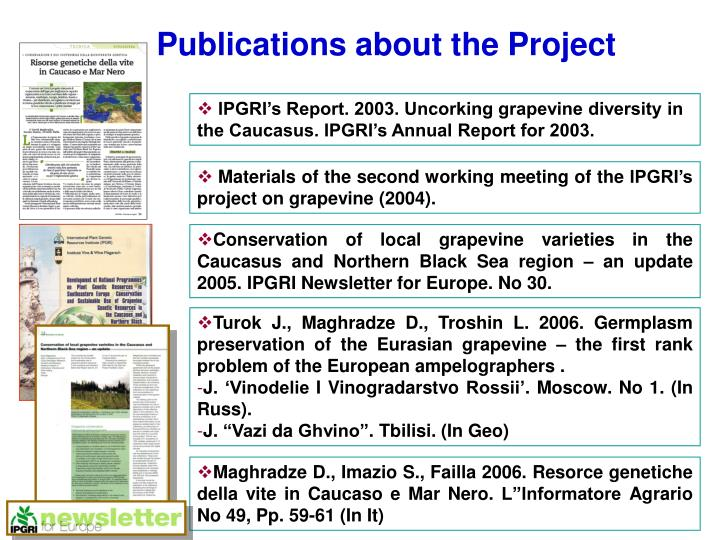 Publications about the Project