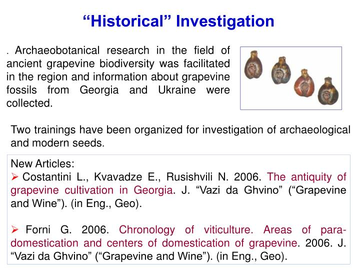 """Historical"" Investigation"