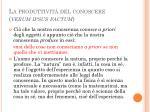 la produttivit del conoscere verum ipsus factum