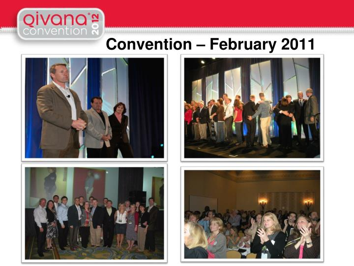 Convention – February 2011