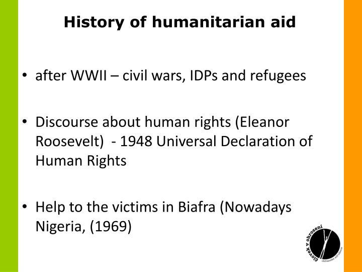 History of humanitarian aid