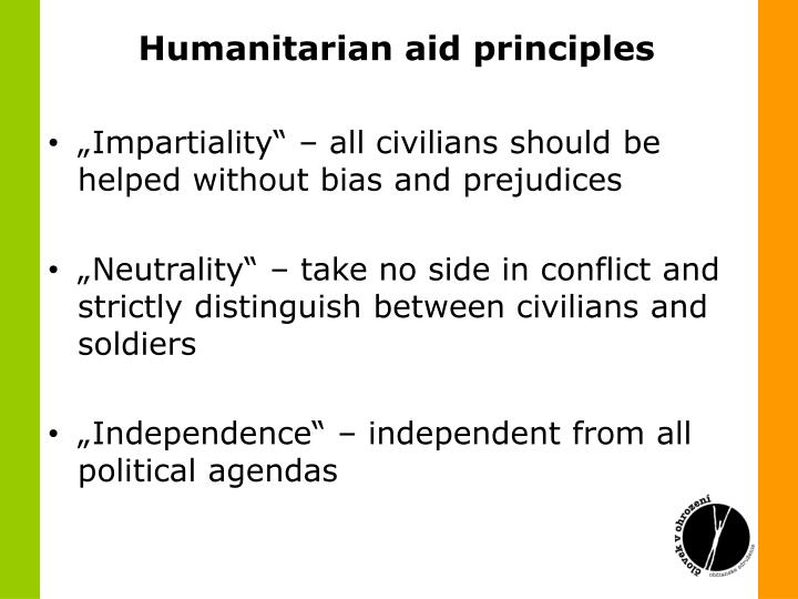Humanitarian aid principles