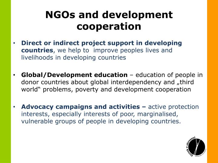 NGOs and development cooperation