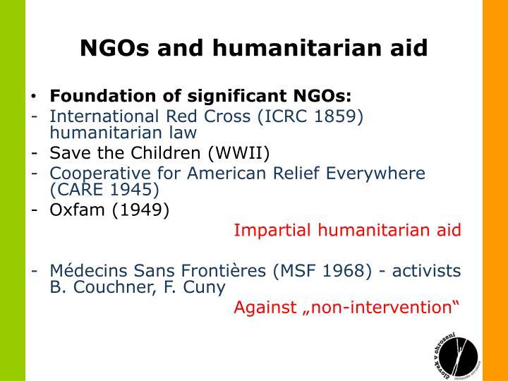 NGOs and humanitarian aid