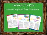 handouts for kids
