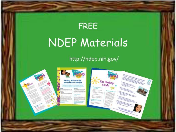 NDEP Materials