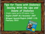tips for teens with diabetes dealing with the ups and downs of diabetes