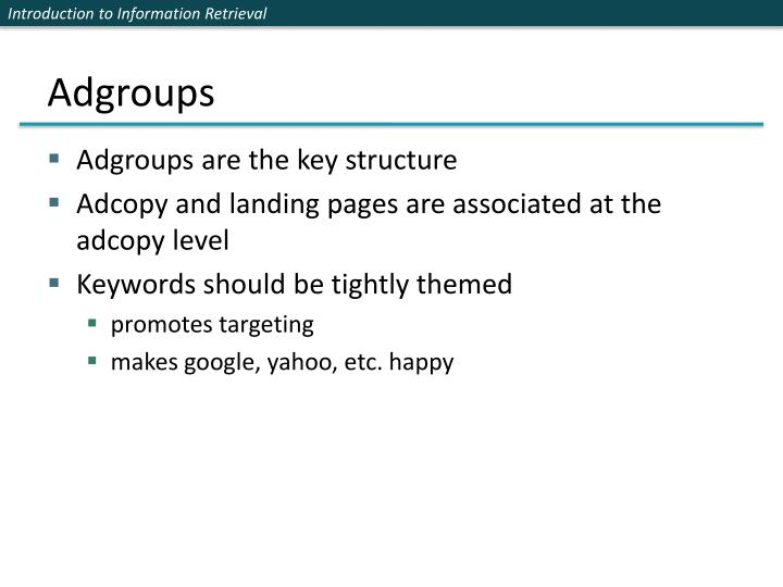 Adgroups