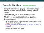 example westlaw http www westlaw com