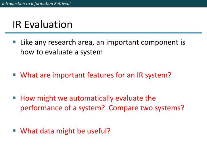 IR Evaluation