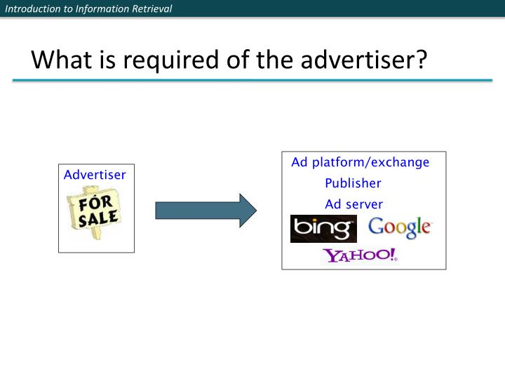 What is required of the advertiser?