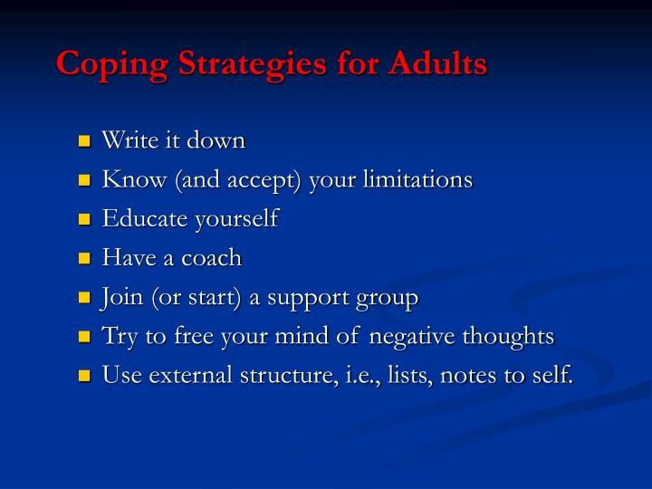Coping Strategies for Adults