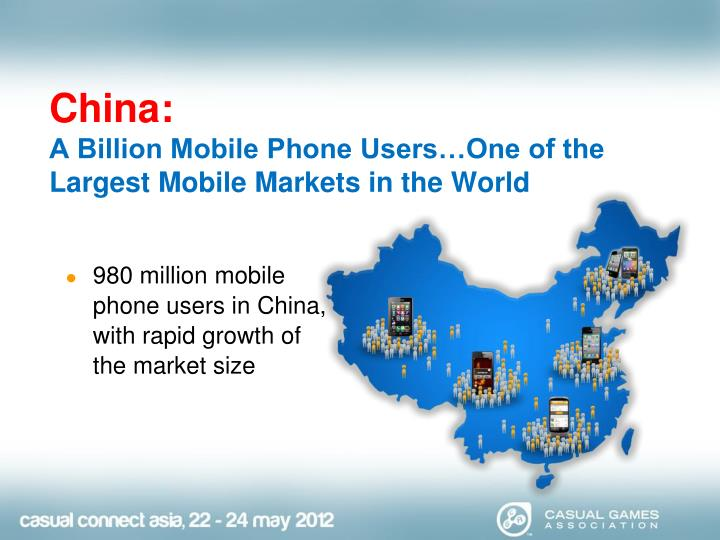 China a billion mobile phone users one of the largest mobile markets in the world