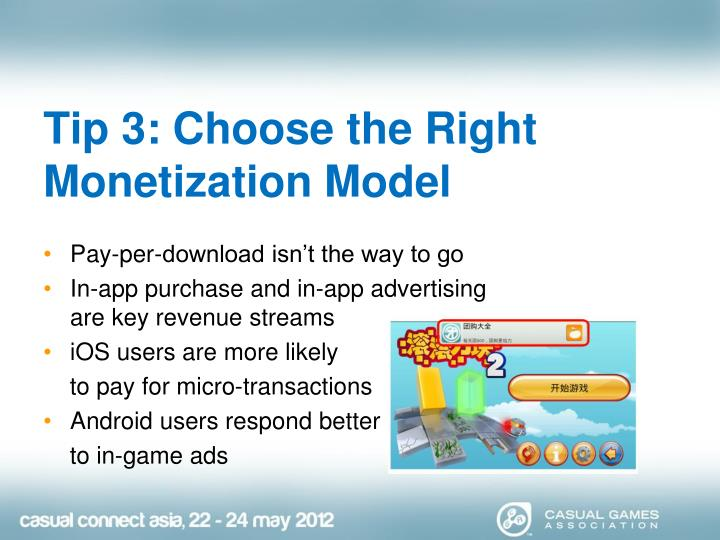 Tip 3: Choose the Right Monetization Model