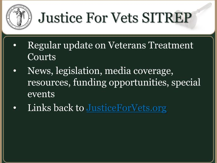 Justice For Vets SITREP