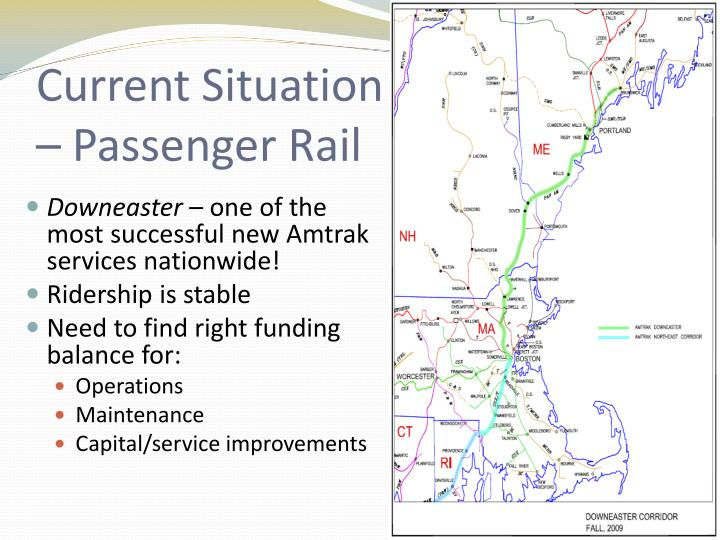 Current Situation – Passenger Rail