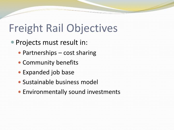 Freight Rail Objectives