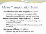 maine transportation bond