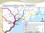 opportunities for transit