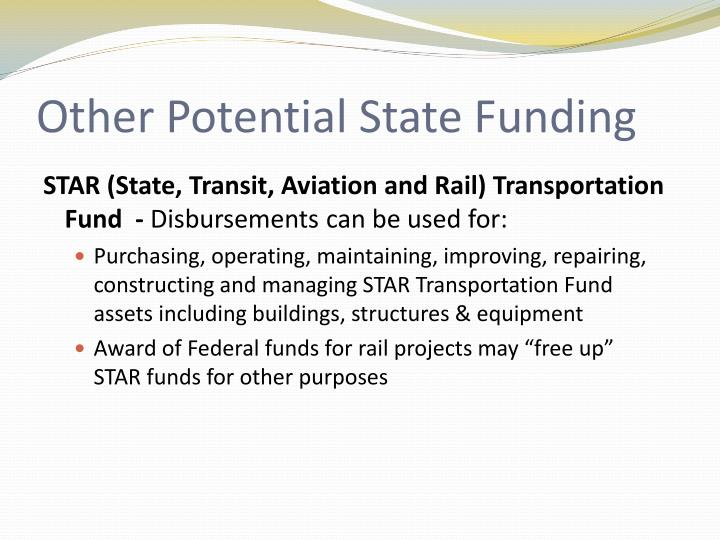 Other Potential State Funding