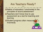 are teachers ready con t