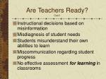 are teachers ready con t1