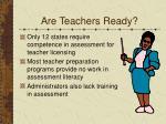 are teachers ready